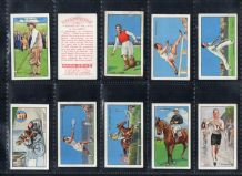 Cigarette cards Golf,  Boxing, tennis, snooker-billiards,
